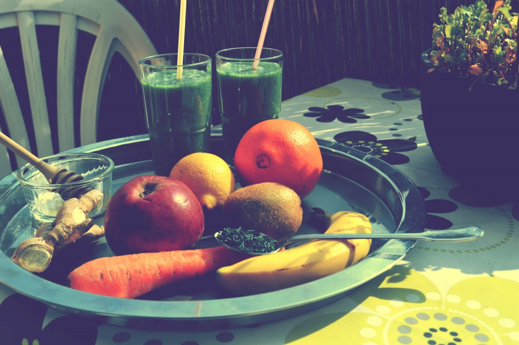 smoothie fruité et spiruline