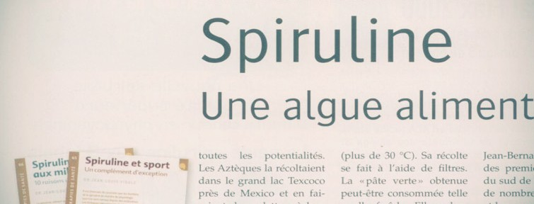 Article Alternative santé : la spiruline, une algue alimentaire