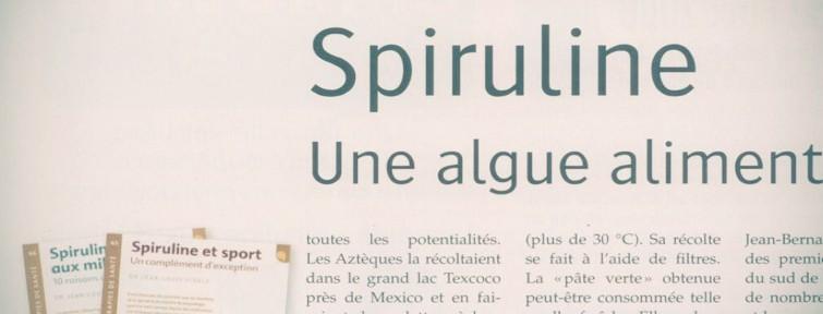Article Alternative santé : la spiruline, une algue alimentaire