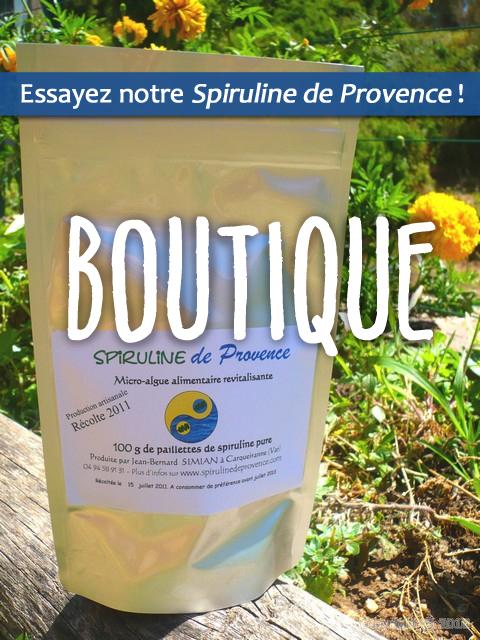 Spiruline de Provence Boutique