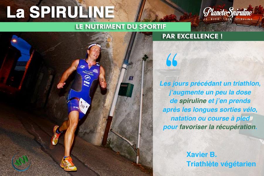 spiruline - sport - triathlon - Xavier