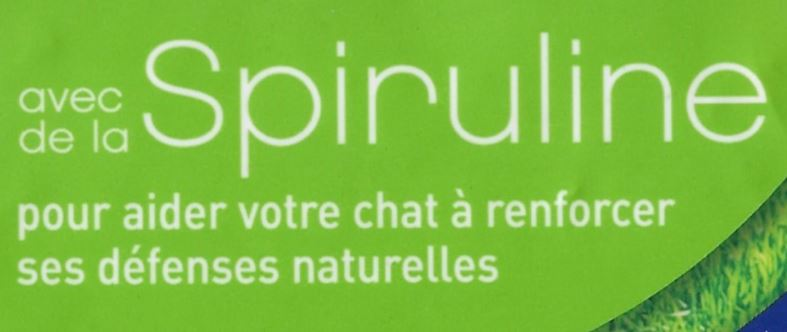 chat purina spiruline gros plan