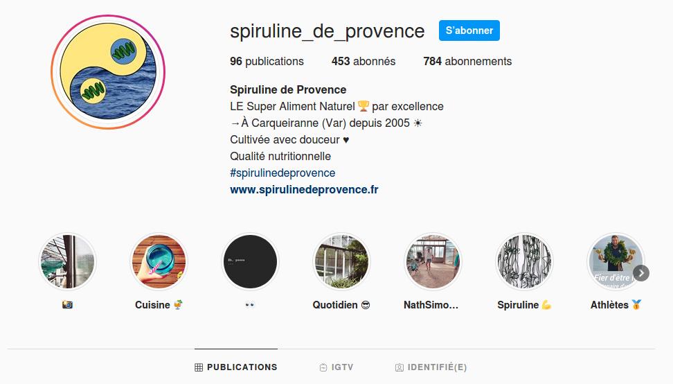 instagram spiruline de provencve